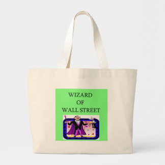 wall street stock ,market investor canvas bags