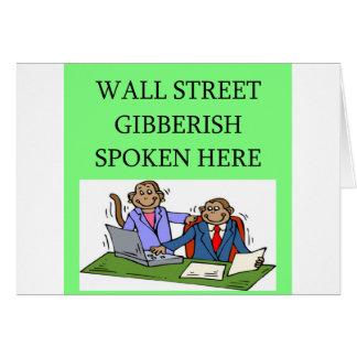 wall street stock market investor cards
