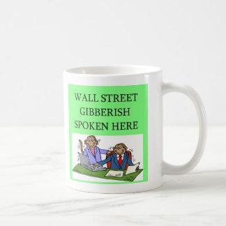 wall street stock market investor coffee mug