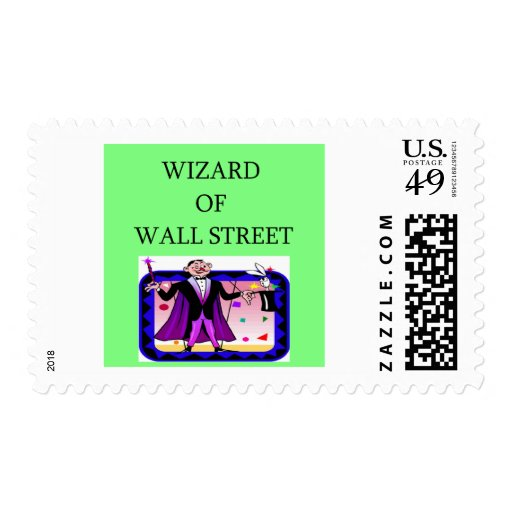 wall street stock ,market investor postage stamps