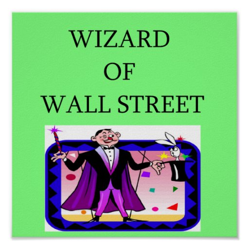 wall street stock market investor print