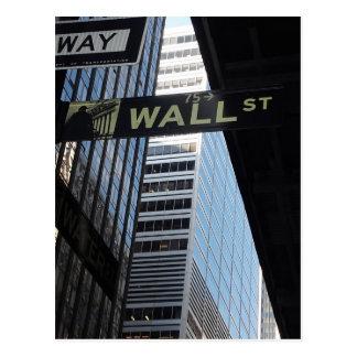 Wall Street Tarjeta Postal