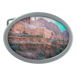 Wall Street trail Arches National Park Oval Belt Buckle