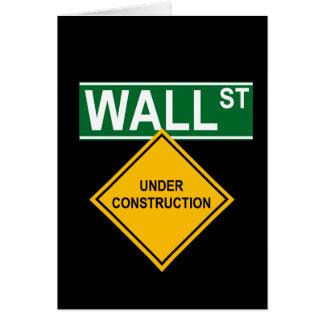 Wall Street Under Construction Card