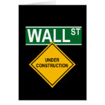 Wall Street Under Construction Greeting Cards