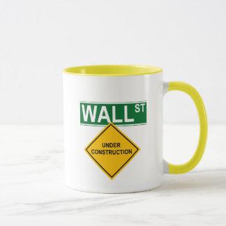 Wall Street Under Construction Mug