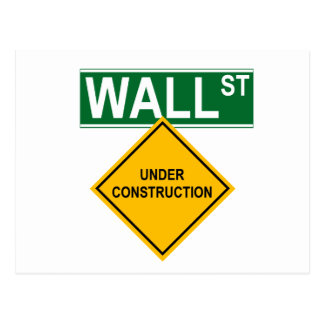 Wall Street Under Construction Postcard
