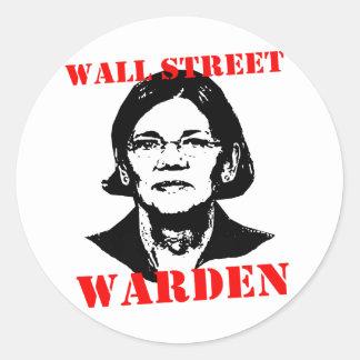 WALL STREET WARDEN CLASSIC ROUND STICKER
