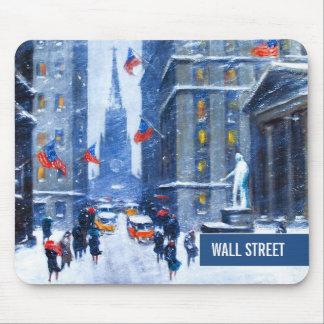 Wall Street, Winter. Fine Art Christmas Mousepad