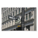 Wall Street y Broadway, New York City Poster