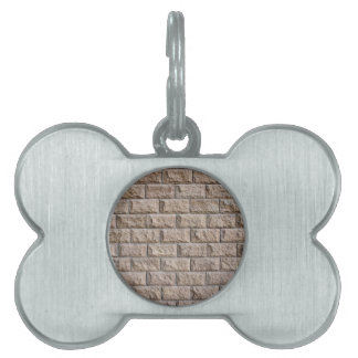 Wall surface of the decorative stones brown pet tag