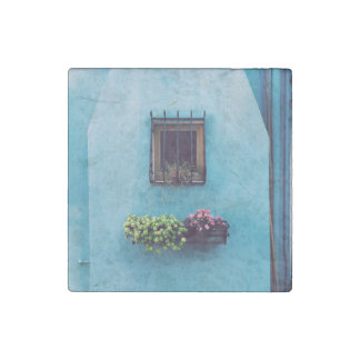Wall Themed, A Small Window Guarded With Iron Gril Stone Magnet