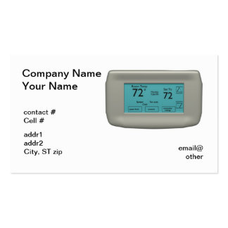 wall thermostat on cool Double-Sided standard business cards (Pack of 100)