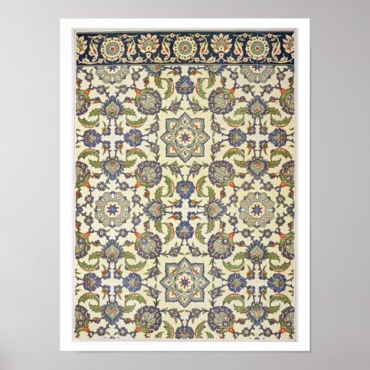 Wall tiles of Qasr Rodouan, from 'Arab Art as Seen Poster