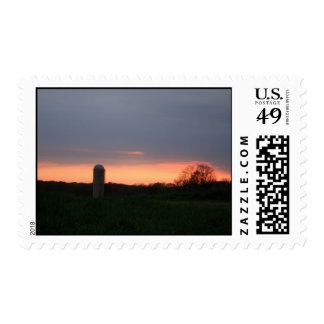 Wall Township Sunset Postage Stamp