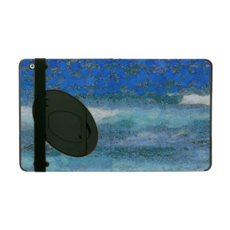 Wall trying to stop waves iPad folio case
