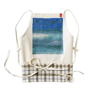 Wall trying to stop waves zazzle HEART apron