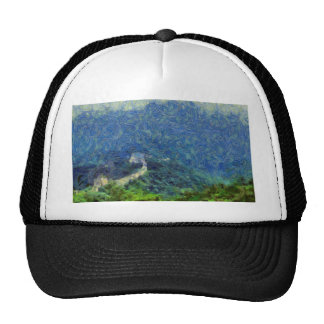 Wall vanishing into the distance trucker hat