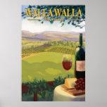 Walla Walla, país vinícola de WA - poster del viaj