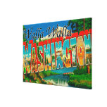 Walla Walla, Washington - Large Letter Scenes Canvas Print