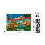 Walla Walla, Washington - Large Letter Scenes Stamps