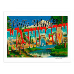 Walla Walla, Washington - Large Letter Scenes Postcard