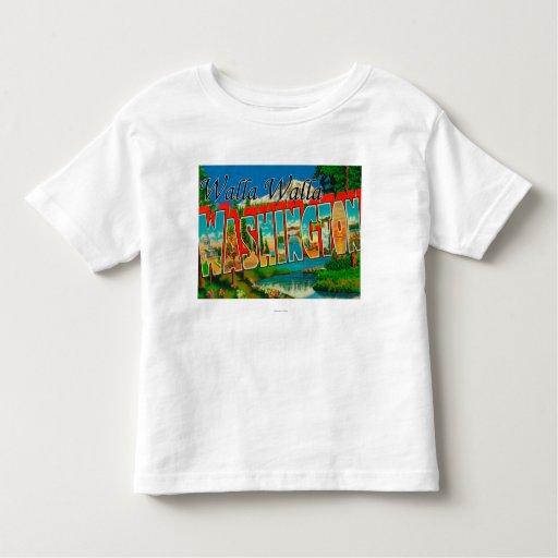 Walla Walla, Washington - Large Letter Scenes Shirts