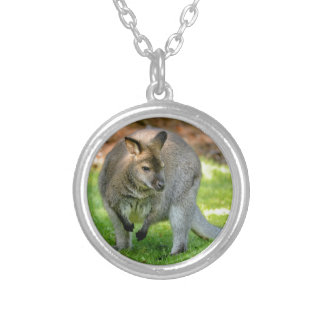 Wallabies of Bennet Round Pendant Necklace