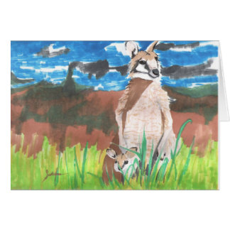 Wallabies Stationery Note Card