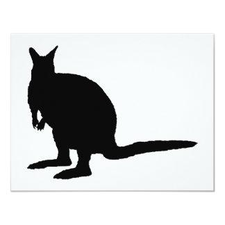 Wallaby. 4.25x5.5 Paper Invitation Card