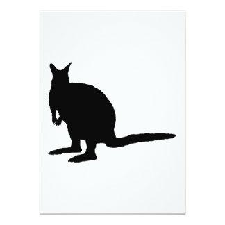 Wallaby. 5x7 Paper Invitation Card
