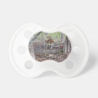 WALLABY AND JOEY QUEENSLAND AUSTRALIA ART EFFECTS PACIFIER