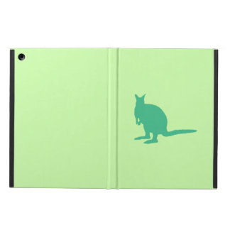 Wallaby. Animal en verde