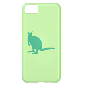 Wallaby. Animal in Green. iPhone 5C Case