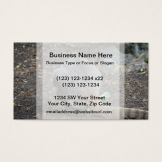wallaby back view animal business card