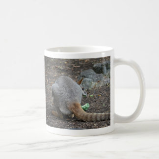 wallaby back view looking over animal classic white coffee mug