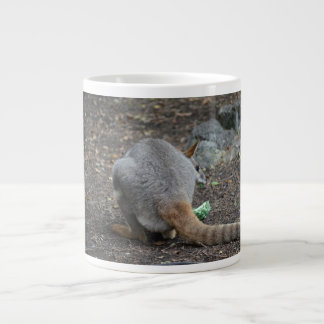 wallaby back view looking over animal 20 oz large ceramic coffee mug