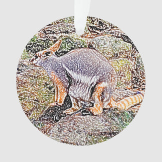 Wallaby colored sketch style camo