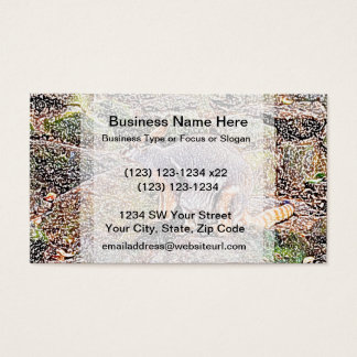 Wallaby colored sketch style camo business card
