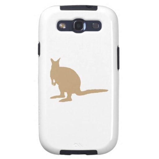 Wallaby. de Brown Samsung Galaxy SIII Funda
