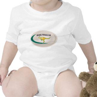 Wallaby del canguro de Australia de la bola de rug Traje De Bebé