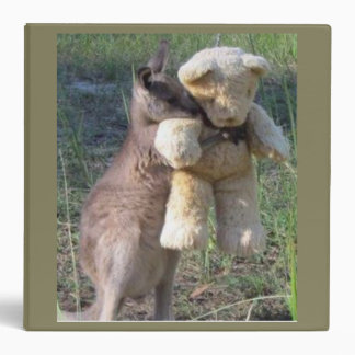 Wallaby hugging teddybear Binder