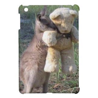 Wallaby hugging teddybear iPad Mini Case