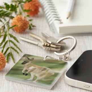 Wallaby Jump Keychain
