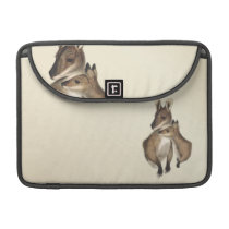 Wallaby Mother and Baby (painted) Sleeve For MacBook Pro
