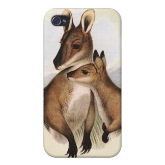 Wallaby Mother and Baby (painting) iPhone 4/4S Case