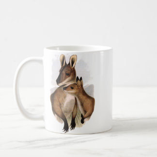 Wallaby Mother and Baby painting Coffee Mug