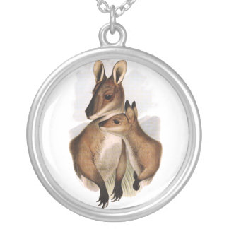 Wallaby Mother and Baby painting Custom Jewelry