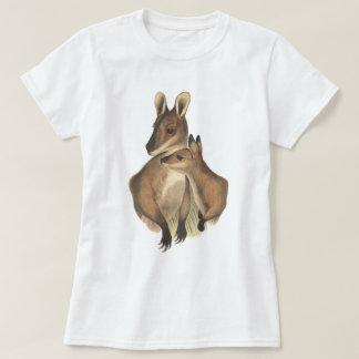 Wallaby Mum and Baby (painting) Tshirts