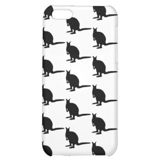 Wallaby Pern. Black and White. Cover For iPhone 5C